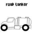 Hand draw road tanker vector image vector image