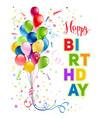 happy birthday holiday card vector image vector image