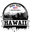 hawaii stamp vector image