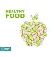 healthy food slice apple vector image