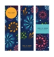 holiday fireworks vertical banners set pattern vector image vector image