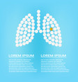 human lungs with pills isolated on a background vector image vector image