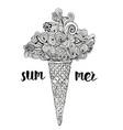 ice cream cloud vector image