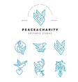 icon and logo peace and charity editable vector image