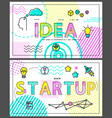 idea and start up collection vector image vector image