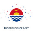 independence day of kiribati patriotic banner vector image vector image