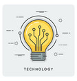 intelligence and technology thin line concept vector image vector image