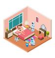 isometric household robots robots modern vector image vector image