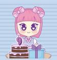 kawaii anime girl design vector image vector image