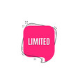 limited symbol special offer sign vector image vector image