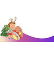 little girl or boy hunting big decorative vector image vector image