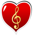 Love music symbol vector image