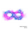 magic fire infinity symbol with neon counter vector image vector image