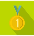 Medal for first place icon flat style vector image vector image