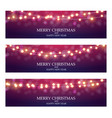 merry christmas abstract light bulb garland vector image