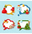 Merry Christmas and Happy New Year sticker speech vector image vector image
