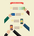 online payment and cashless society infographic vector image vector image