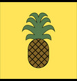 pineapple icon in flat style isolated vector image vector image