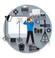 professional photo studio vector image