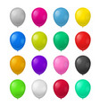 realistic detailed 3d color balloons set vector image vector image