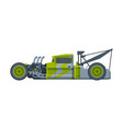 retro style green car old racing sports vector image