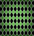 Seamless harlequin pattern-green and black vector image vector image