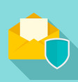 secured mail icon flat style vector image vector image