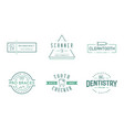 set dental signs template stomatology graphic vector image vector image