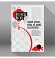 Set of flat elements for chinese restaurant vector image