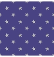 Silver stars pattern on the blue background vector image vector image