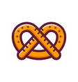 single german pretzel icon vector image vector image
