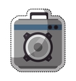 speaker sound device isolated icon vector image vector image