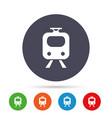 subway sign icon train underground symbol vector image