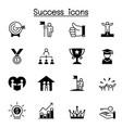 success icon set graphic design vector image