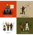 Terrorism design concept set vector image vector image