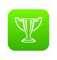 trophy icon simple black style vector image vector image