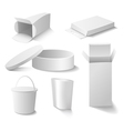White boxes set vector image vector image