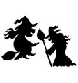 witch silhouettes vector image