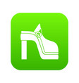 women shoe icon digital green vector image