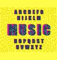zebra vintage alphabet 80 s vector image vector image