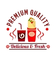 Coffeeshop fast food and drink icon vector image