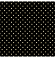 Gold stars pattern on the black background vector image