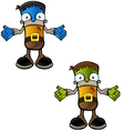 Halloween Monster Confused vector image
