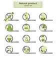natural product labels vector image