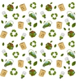 Eco technology pattern seamless vector image