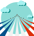 Air show for celebrate the national day of France vector image