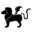 isolated manticore icon vector image