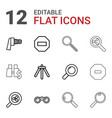 12 zoom icons vector image vector image