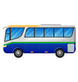 a bus on a white background vector image