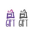 abstract logo template gift box vector image